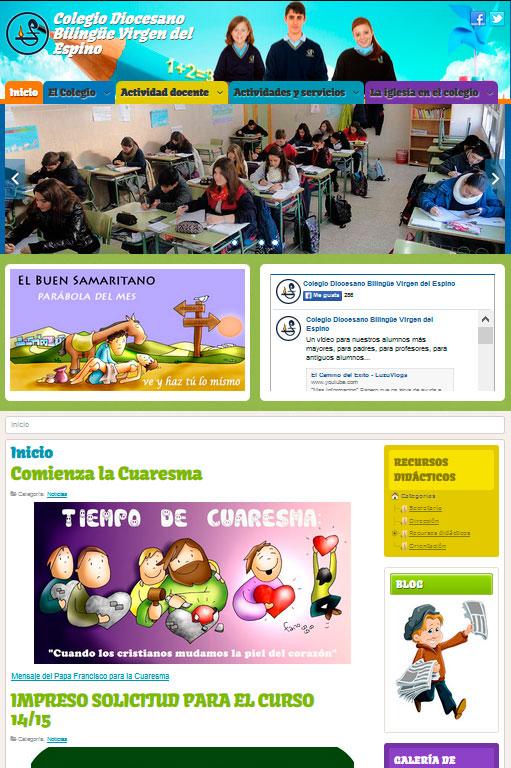 Desarrollo web Colegio Virgen del Espino