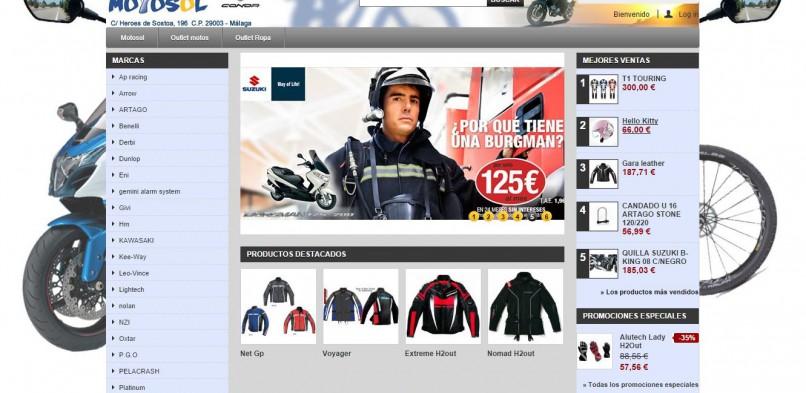 Tienda online con Prestashop para Motosol