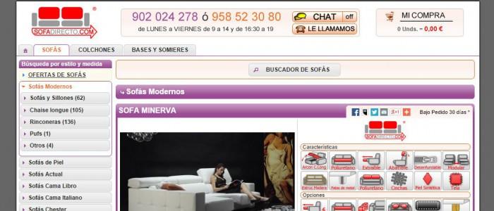 Tienda online sofas