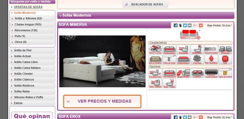 Tienda online a medida de sofás, colchones y muebles