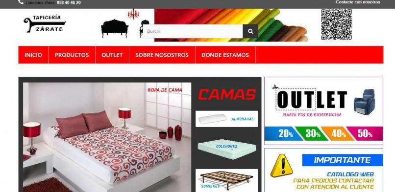 Diseño catálogo web para Tapicería Zarate