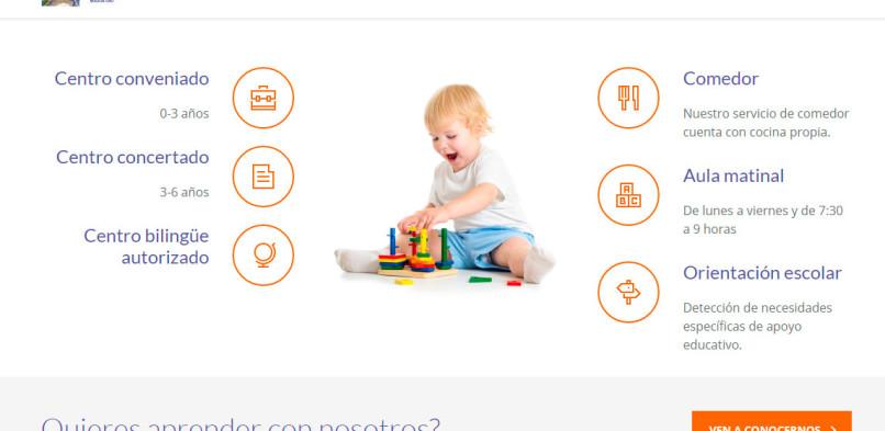 Diseño de página web para Centro de Educación Infantil Virgen Madre