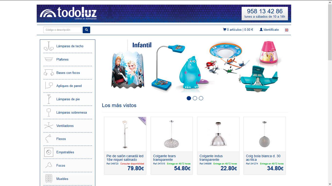 Tienda online Todoluz